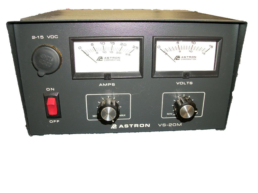 VS-20ML ASTRON VS20ML VARIABLE 20 AMP POWER SUPPLY W/VOLT & AMP METERS