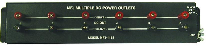 30A MFJ-1118 Power strip 8 outputs