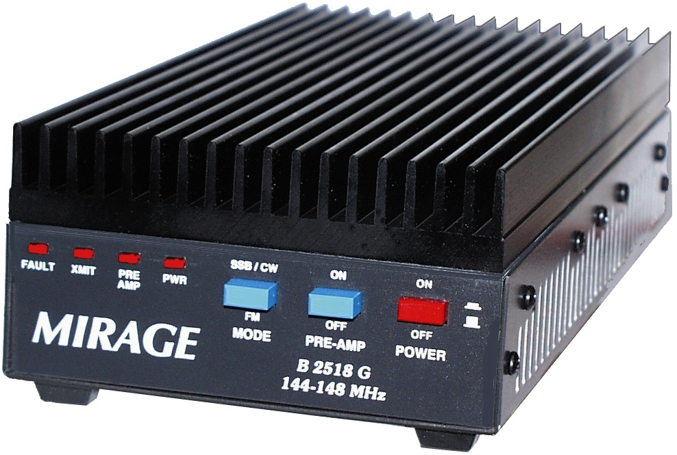 Mirage B2518G 144-148MHZ 25W IN 160W OUT FM/SSB/CW W/PREAMP